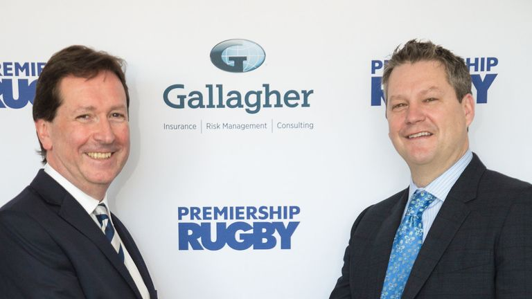 Premiership Rugby Chief Executive, Mark McCafferty and Chief Marketing Officer at Gallagher, Chris Mead