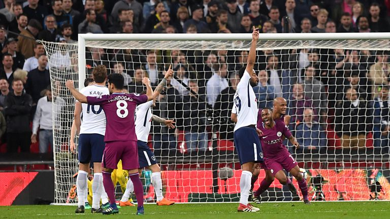 Sterling's latest goal came against Tottenham at Wembley on Saturday evening