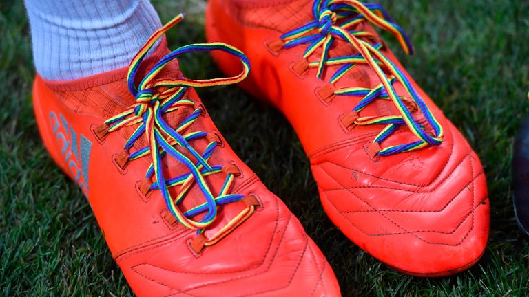 The Rainbow Laces campaign is supported by Sky Sports as part of TeamPride