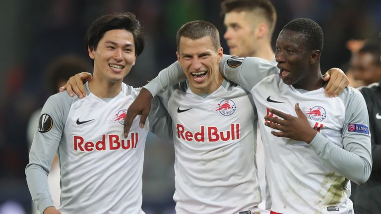RB Salzburg stunned Lazio 4-1 to win an enthralling quarter-final 6-5 on aggregate