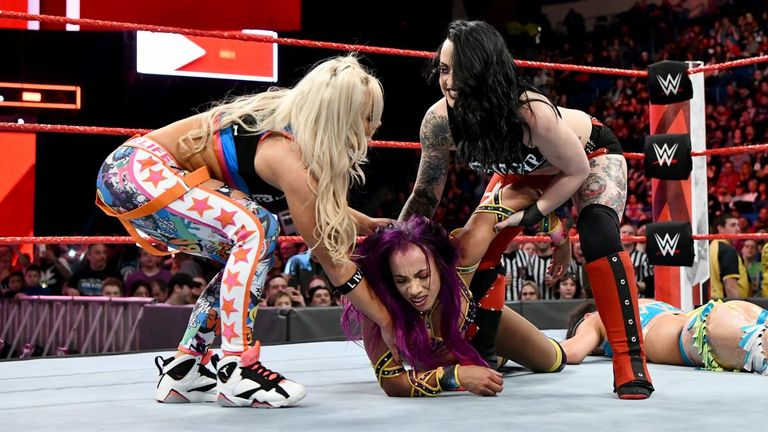The Riott Squad arrived on Raw with a bang - attacking Sasha Banks and Bayley