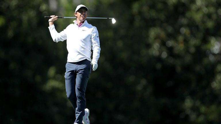 Rory McIlroy played in Sunday's final group with Reed but his challenge faded away