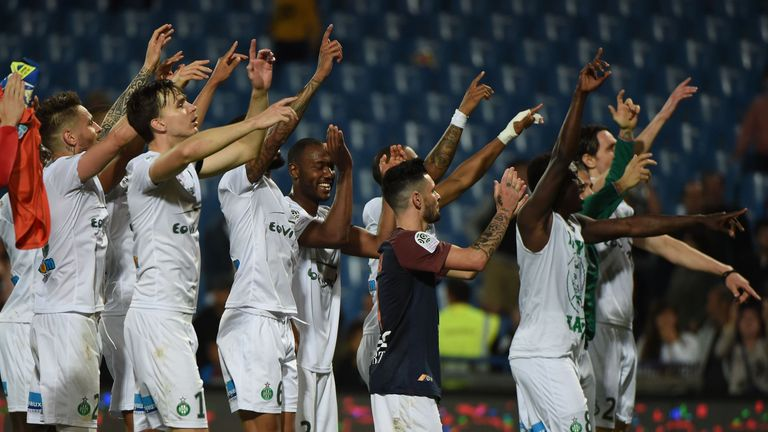 St Etienne boosted their hopes of European qualification with victory at Montpellier