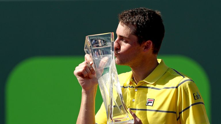John Isner was a big winner at the Miami Masters in the spring