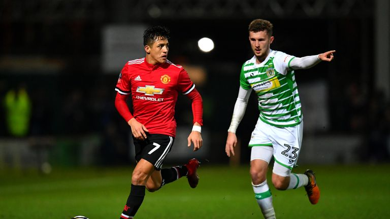 Tom James played for Yeovil against Manchester United in the FA Cup