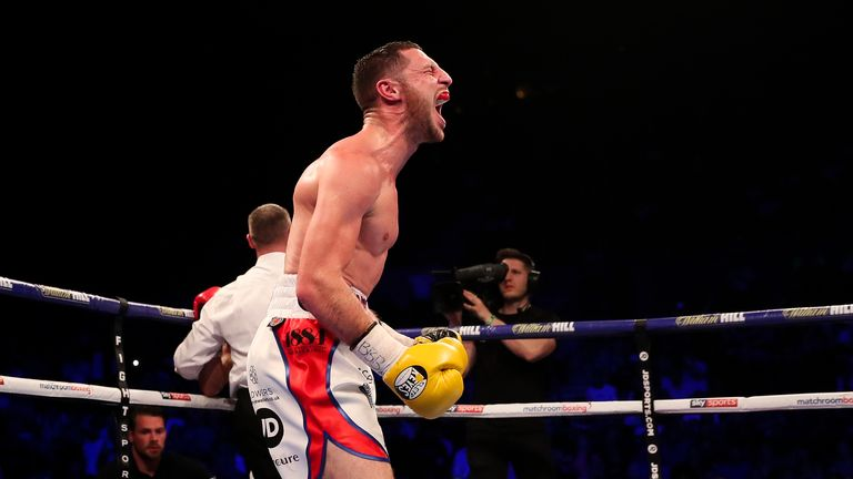 Tommy Coyle celebrates after outgunning Sean Dodd