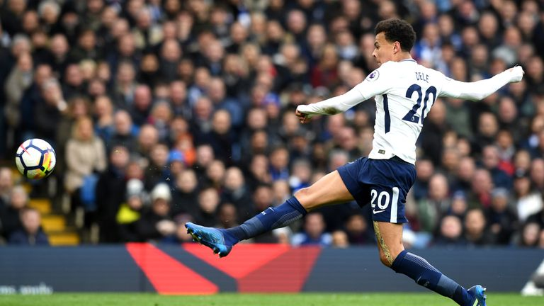 Alli's first was a sublime take and finish from Eric Dier's pass