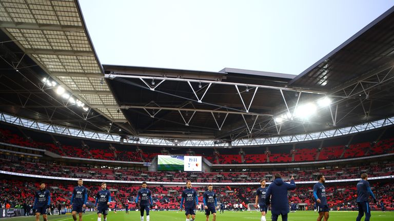 Tottenham have played all their home games at Wembley this season
