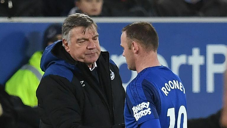 Sam Allardyce says he has never had a problem with Wayne Rooney