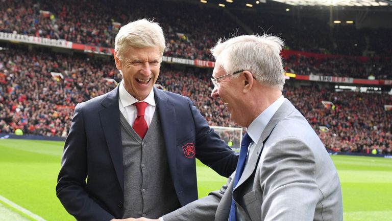 Ferguson presented his old rival Arsene Wenger with a trophy to celebrate his time at Arsenal at Old Trafford last month