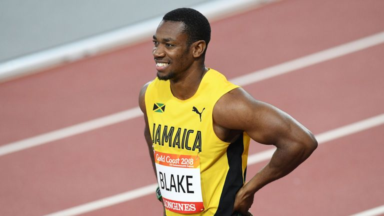 Former world champion Yohan Blake was the fastest quailifier for the Commonwealth Games 100m final