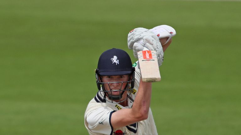 Zak Crawley top scored for Kent - with 15