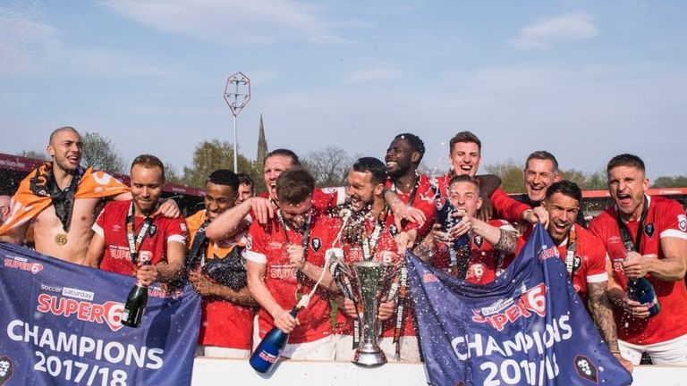 Salford were crowned champions of the National League North