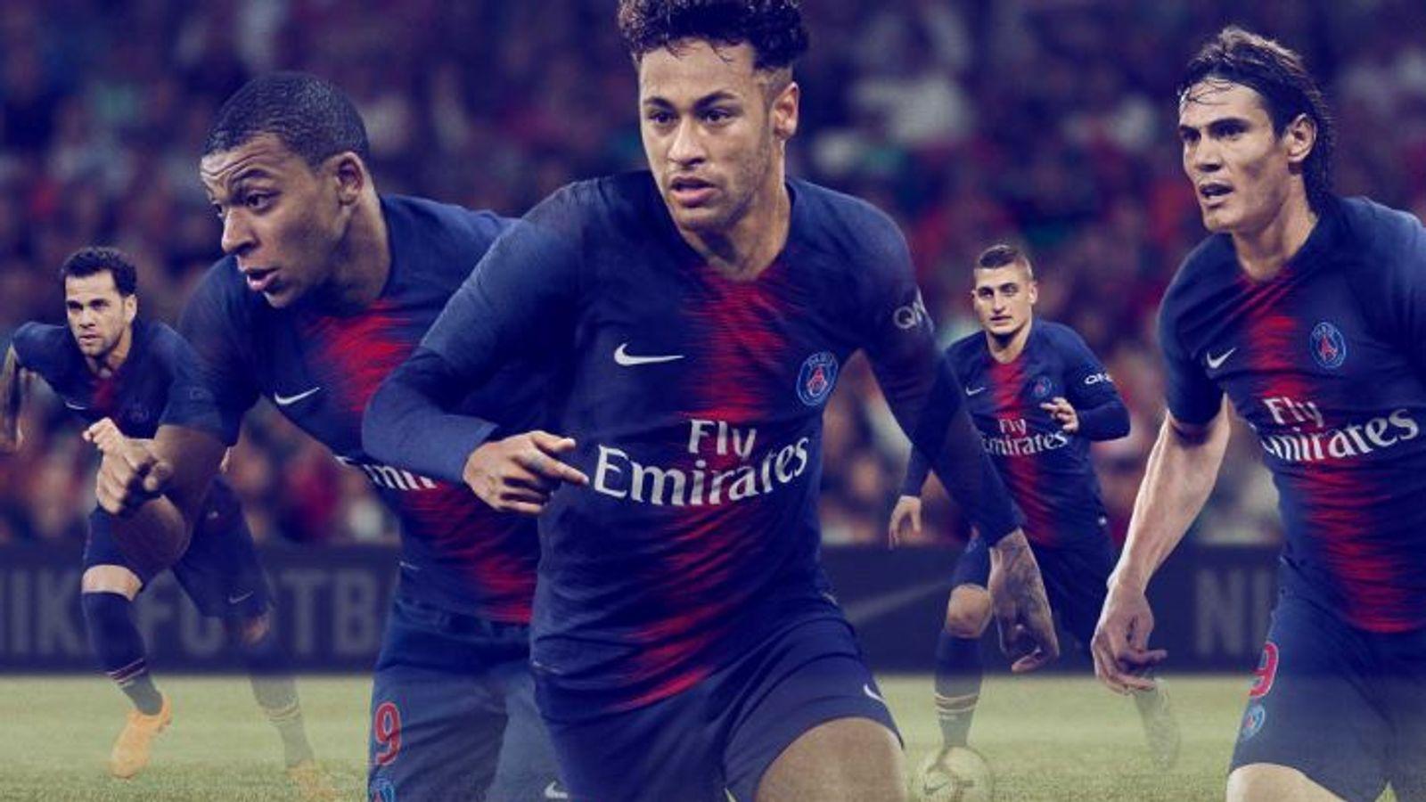 637aad80f New football kits  European strips for the 2018 19 season