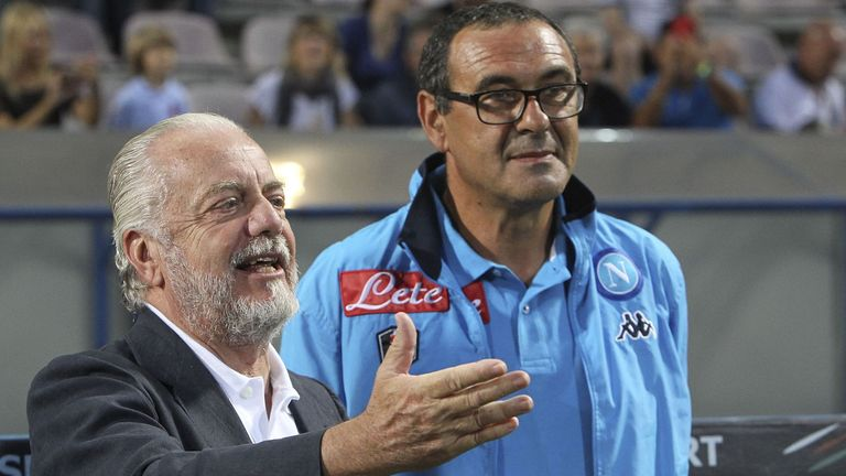 Sarri was named Serie A's coach of the year in 2015-16