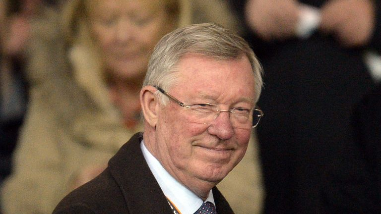 Sir Alex Ferguson was taken ill after falling at home on Sunday