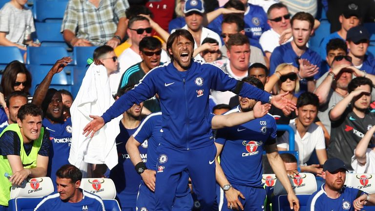 Antonio Conte says his future will become clear once Chelsea's season is over