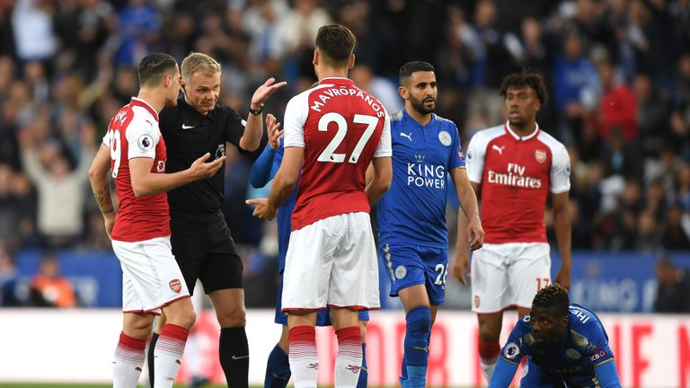 Arsenal have been fined by the FA for failing to control their players against Leicester