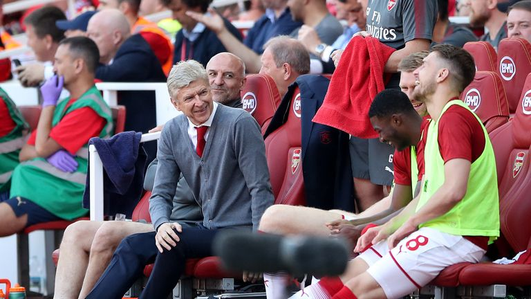 Wenger was in a relaxed mood on Sunday as he bid farewell to The Emirates