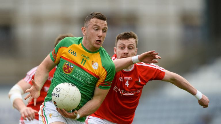 Darragh Foley in action against James Craven of Louth
