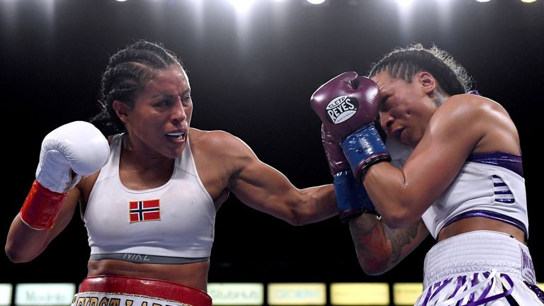 Cecilia Braekhus was challenged by UFC featherweight champion Cris Cyborg after her unanimous decision win