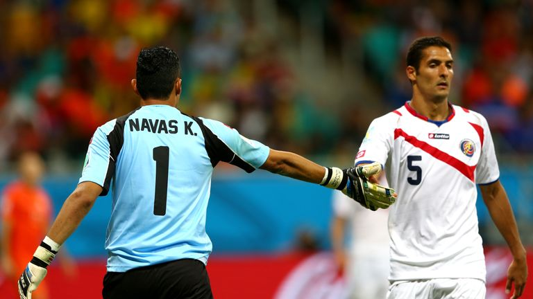 Celso Borges is a team-mate of Keylor Navas