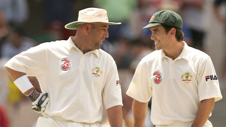 Darren Lehmann (left) and Justin Langer together in their playing days