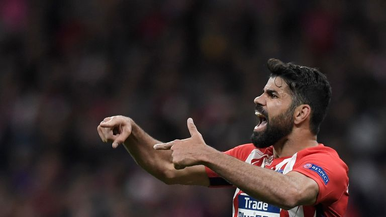 Diego Costa was on target as Atletico Madrid beat Arsenal on Thursday