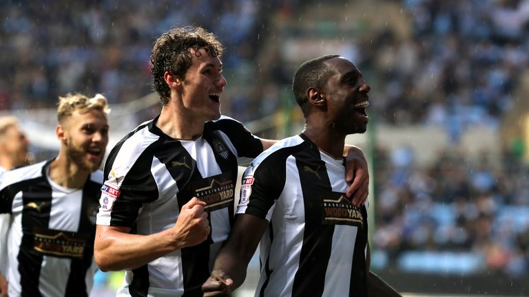 Jonathan Forte scored an exquisite opener for Notts County