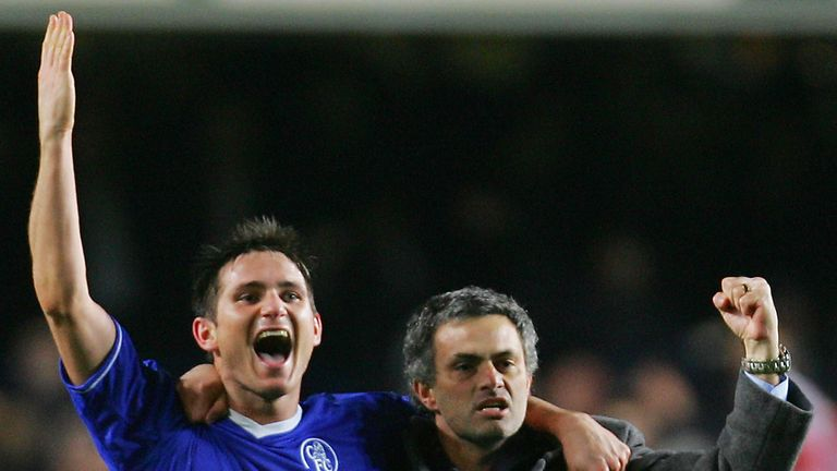 Frank Lampard played under Jose Mourinho at Chelsea