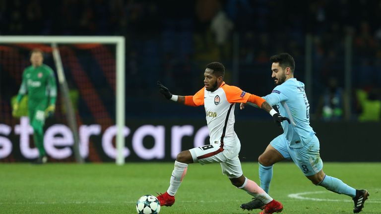 Fred featured against Manchester City in the Champions League