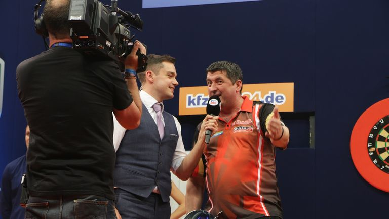 It was only the second televised win of Mensur Suljovic's career (Credit: PDC)