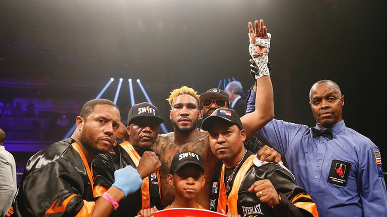 Hurd and trainer Rodriquez (second right) want Brook next