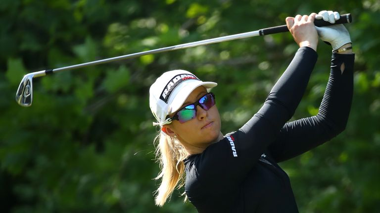 Jodi Ewart Shadoff carded a 69 to move two off the lead in Michigan