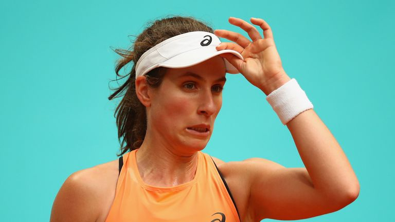 Johanna Konta is yet to win a match at the French Open