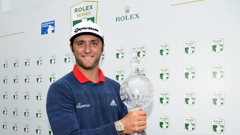 Jon Rahm claimed the first of his two Rolex Series wins in 2017 at the Irish Open