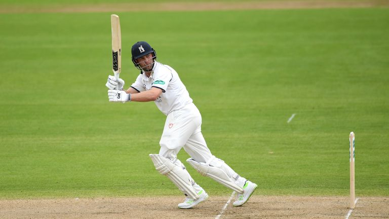 Jonathan Trott hit another fifty for Warwickshire in his final season