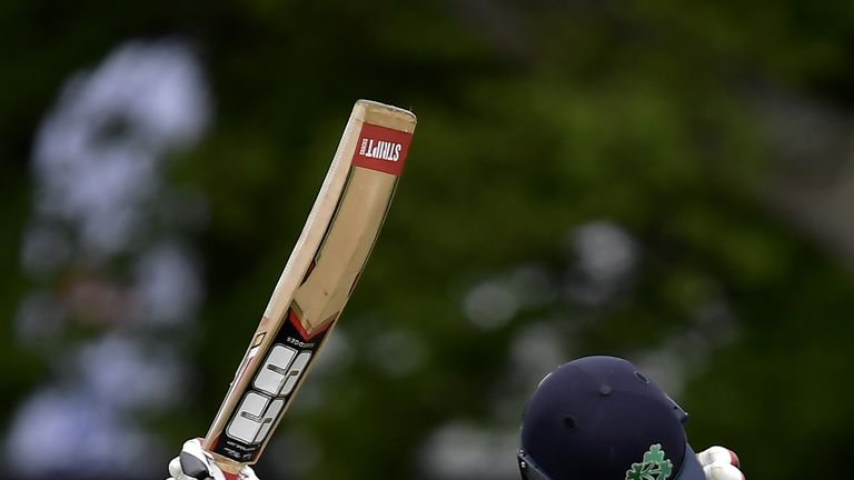 Kevin O'Brien became the first player to score a Test century for Ireland against Pakistan in May