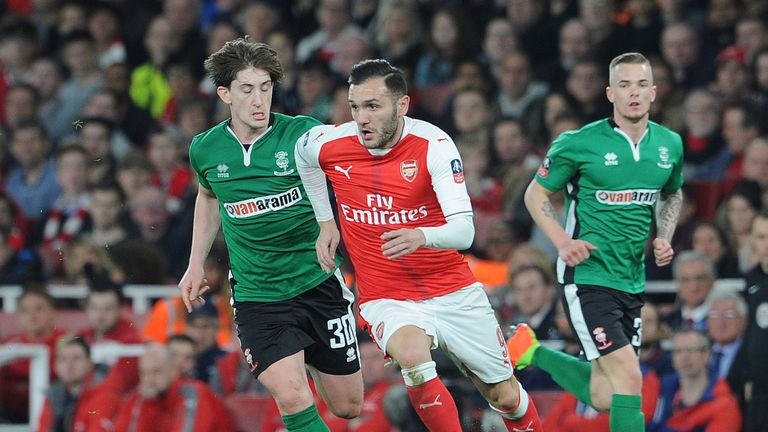 His final Arsenal appearance came in the FA Cup against Lincoln