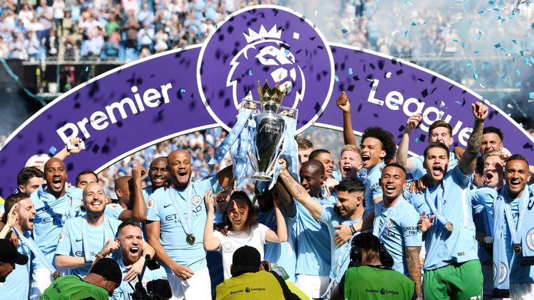 Manchester City are aiming to win back-to-back Premier League titles