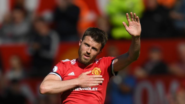 Michael Carrick ended his 11-year playing career at United to join the club's coaching staff.