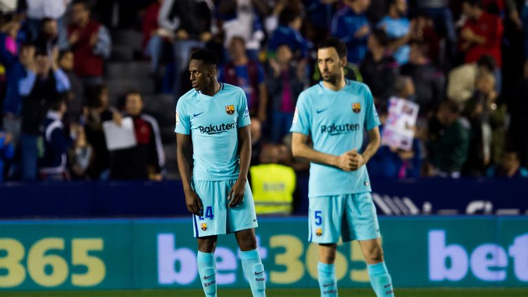 Barcelona were humbled by Levante as their unbeaten run was ended
