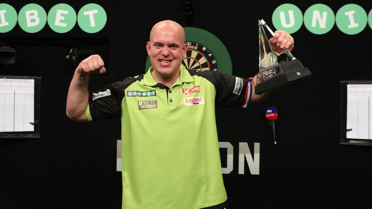 Van Gerwen will be hoping to continue his Premier League dominance at The O2 on Thursday