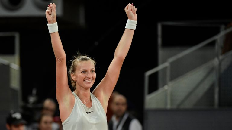 Petra Kvitova was pushed all the way by Cepede Royg