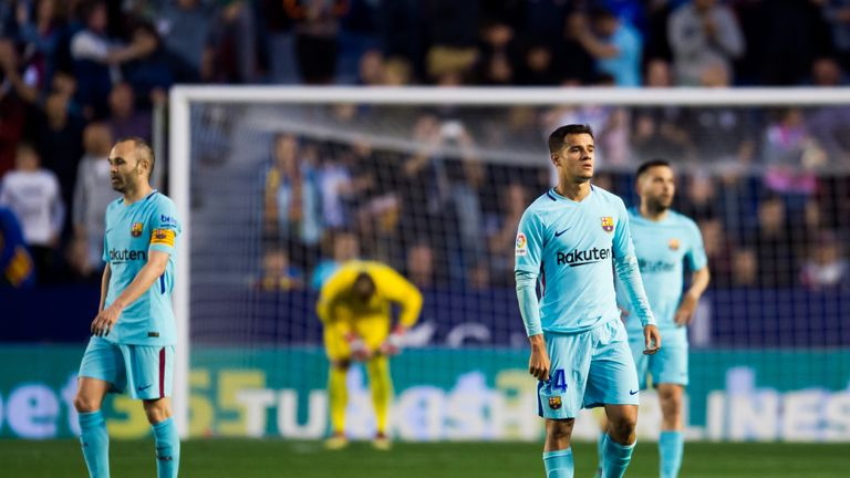 Philippe Coutinho scored a hat-trick but Barcelona were beaten