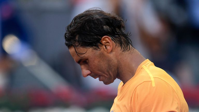 Rafael Nadal lost his status as world No 1 to Roger Federer after defeat to Dominic Thiem at the Madrid Open.