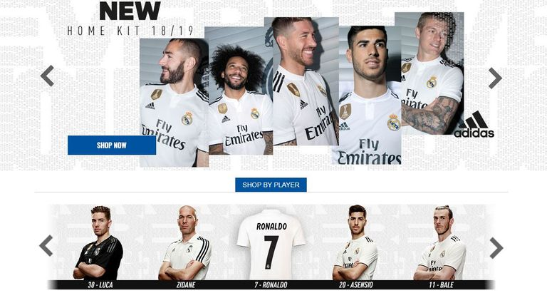 Cristiano Ronaldo is the only first-teamer not pictured in new Real shirt (image: Real Madrid)