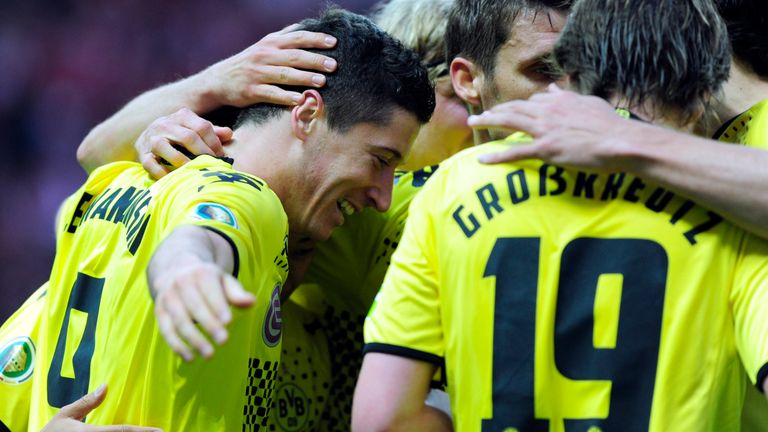 Robert Lewandowski scored a match-winning hat-trick