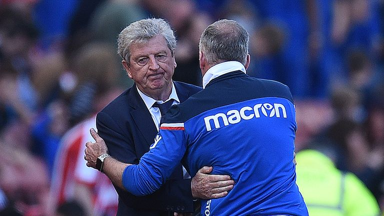 Roy Hodgson's Crystal Palace relegated Paul Lambert's Stoke