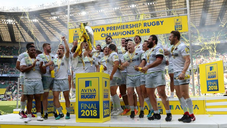 Saracens are the current holders of the Premiership title